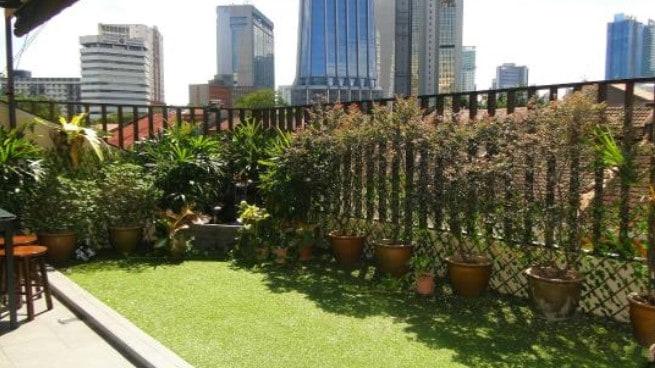Thiết kế sân vườn cho nhà ống