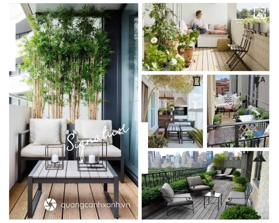 Thiết kế sân vườn đẹp cho ban công