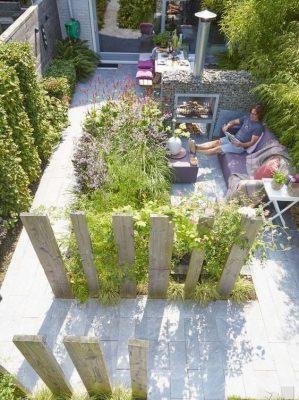 Phong cách thiết kế sân vườn hiện đại đơn giản